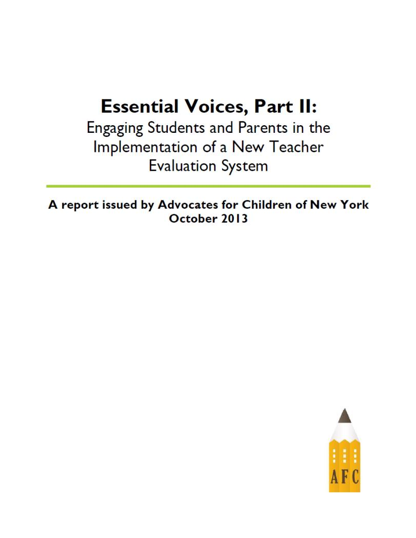 Essential Voices Part 2 report cover
